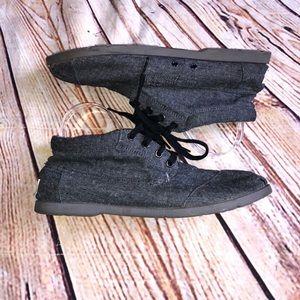 Toms canvas boots men's size 10